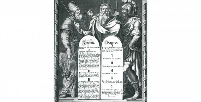 1717 Engraving of the Ten Commandments